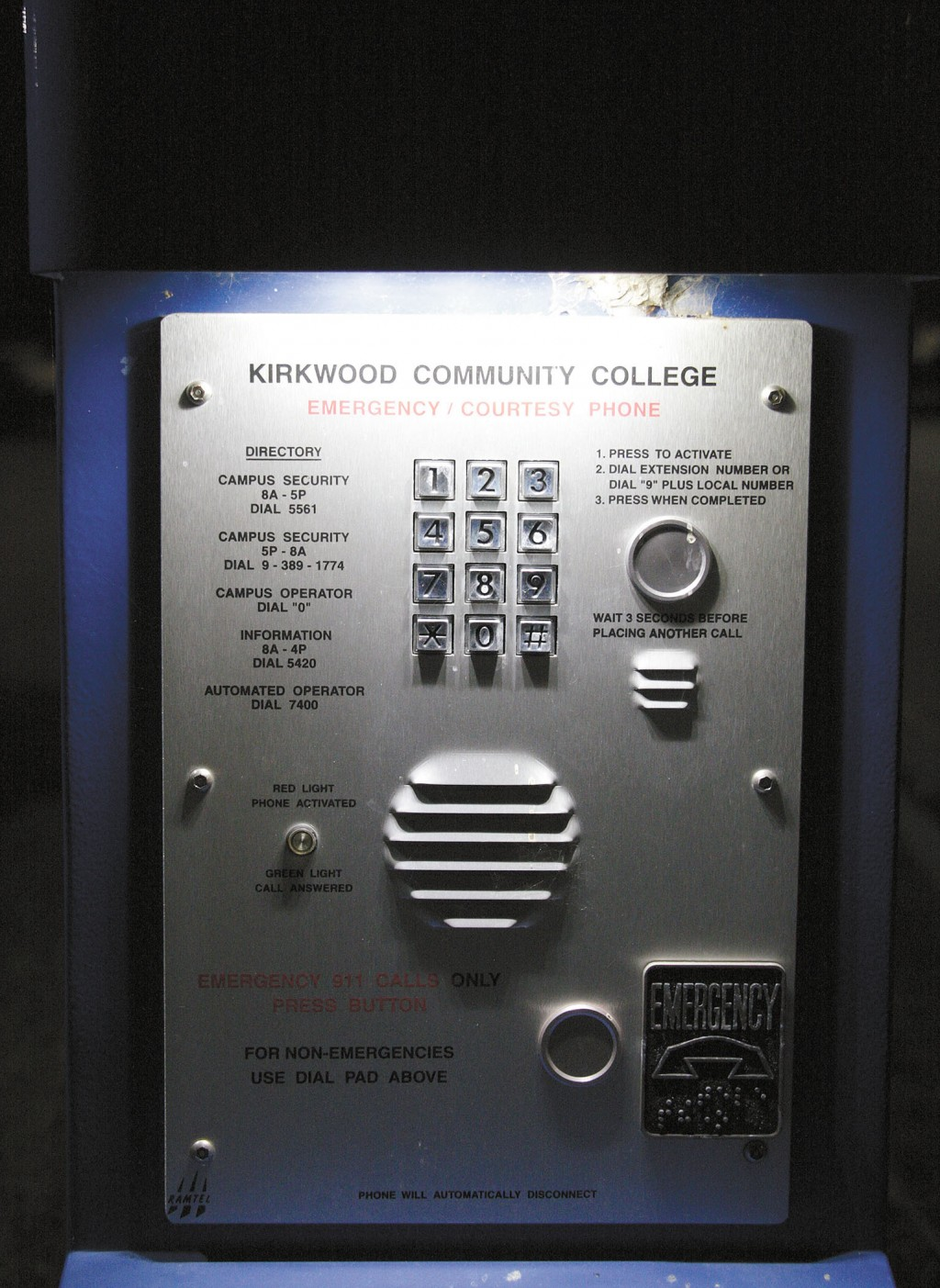 Kirkwood Community College Campus Map.Help At The Push Of A Button Kirkwoodstudentmedia