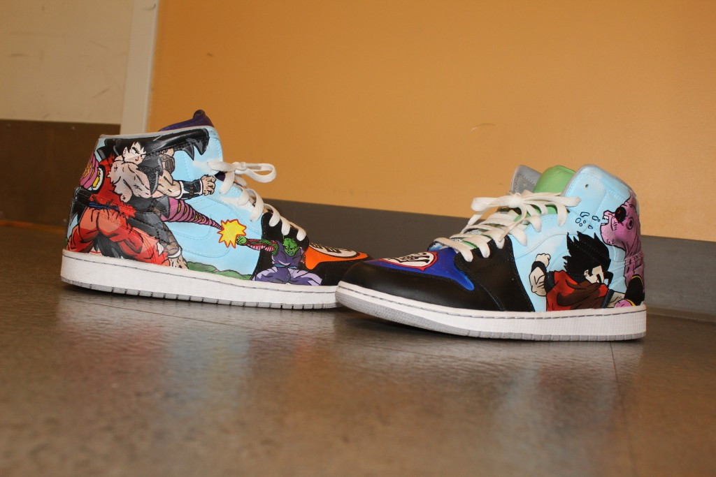 032659d8031 Dragon Ball Z inspired Nike Air Force 1 s. Photo credit  Adriana Alexander